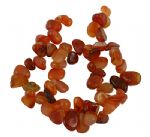 "JW13614 Natural Carnelian Gemstone Beads - Approx 7.5"" strand"